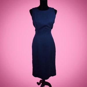 Alfred Angelo Navy Keyhole Wiggle Dress Size M